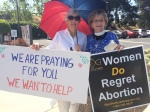 Outside abortion clinic May 2015